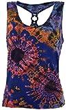 Guru-Shop Batik Hippie Top, Tank Top mit Ring, Damen, Flieder, Synthetisch, Size:38, Tops, T-Shirts, Shirts Alternative Bekleidung