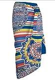Secaneta Pareos de Playa tamaño Grande de 150x100cm Toallas de Playa Mod. Judith (Azul)