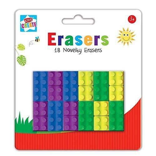 Neuheit Radiergummis Lego kautschuken 18Schule kautschuken Kids Radierer Brick Block Typ New