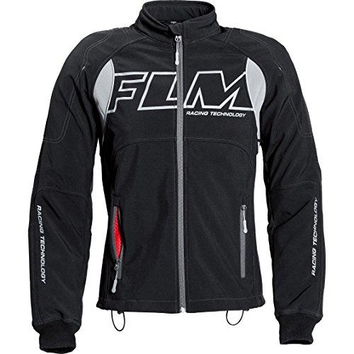 FLM Motorradschutzjacke, Motorradjacke Sports Softshelljacke mit Protektoren 1.0 schwarz XL, Herren, Sportler, Ganzjährig, Textil