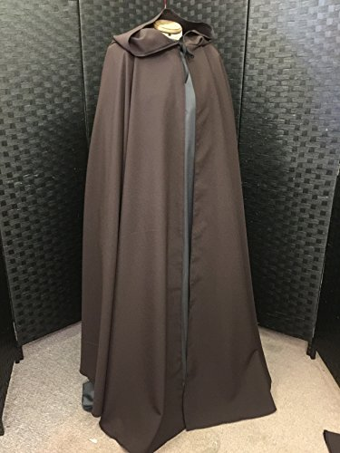 FULL CIRCLE CLOAK IN BROWN POLYESTER (Death Knight Cosplay Kostüm)