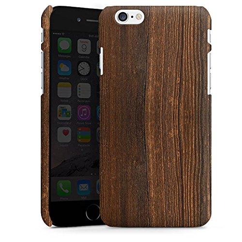 Apple iPhone X Silikon Hülle Case Schutzhülle Nußbaum Holz Look Premium Case matt