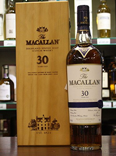 Macallan Scotch Whisky inkl. blauer Holzbox - Originalabfüllung - Single Highland Malt Scotch Whisky