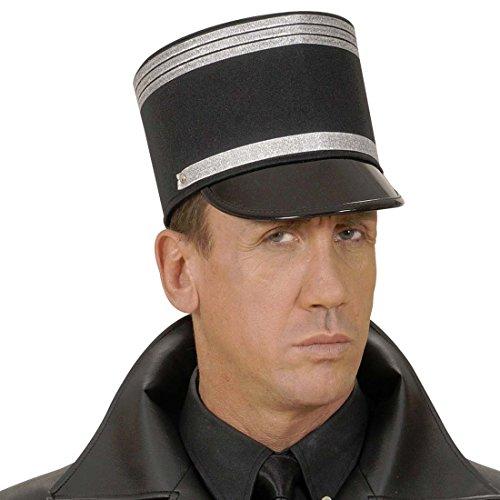Gendarm Hut Französische Polizei Mütze Offiziershut Armee Offizier Frankreich Polizist Käppi Kopfbedeckung Soldaten Schirmmütze Fasching Uniform Mottoparty Accessoire Karneval Kostüm (Französische Gendarm Kostüm)