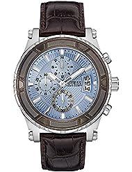 Guess Herren-Armbanduhr Chronograph Quarz Leder W0673G1