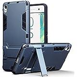 Coque Xperia XA, Terrapin Double Couche Étui Rigide avec Fonction Stand pour Sony Xperia XA Étui - Bleu Foncé