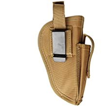 Fondina per pistola pistola Tactical Glock 1719212327404243.380Sig P3201911Ruger 9mm Taurus Beretta Compact m & P Shield militare cintura universale sinistra destra intercambiabile con Magazine Pouch, tan