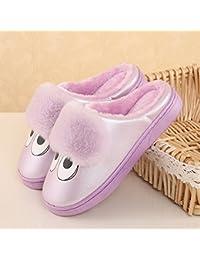 LaxBa Winter warme Hausschuhe, Winter Home Plüsch Hausschuhe, Winter warme Rutschfeste Schuhe Hausschuhe weiß 36-37 (geeignet zum Tragen 35-36)