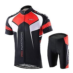 51eRoYCQgbL. SS300 Lixada Abbigliamento Ciclismo Uomo Asciugatura Veloce Maglia Manica +Pantaloncini Abbigliamento da Ciclismo…