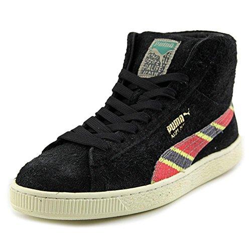 Puma States Cuir Baskets Black-Whisper White