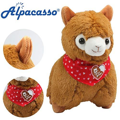 """Alpacasso 6.7 """"Alpaca de felpa marrón, Lindo juguete de peluche suave"""