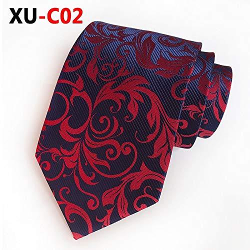 LLTYTE Mode Neue Seide Jacquard 8 cm weinrot große Blume Krawatte trauung offizielle zubehör wählen sie es zu beleben - Gestreifte Neue Seide Krawatte