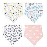 CHIC-CHIC 4PC 4-Pack Bunt Baby-Lätzchen Spucktücher Muster für Jungen Mädchen