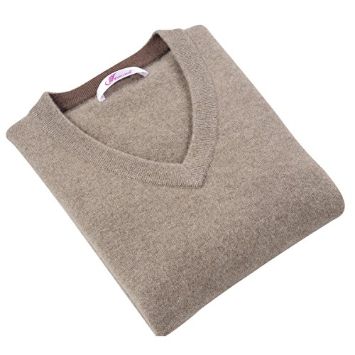 Petite V-ausschnitt Strickjacke (织礼 Zhili Herren-Pullover aus Kaschmir mit V-Ausschnitt - Mehrfarbig - Mittel)