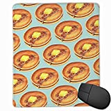 Gaming Mouse Mat Office Pad,Pancakes Pattern - Blue Size 250mm Long And 300mm Wide Desk Keyboard Mat Big Mouse Pad For Computer Desktop PC Laptop Desk Pad, Decoration, Desk Protection