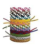 Vaycally 12pcs Anti-moustiques Bracelet, 100% d'extrait de Plantes Naturelles en Cuir...