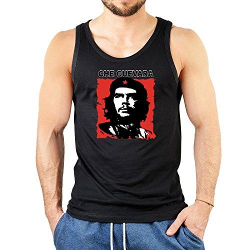 Herren Tanktop schwarz mit coolem Motiv - Che Guevara - Geschenk zum Geburtstag - Muskelshirt Schwarz