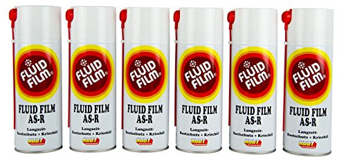 Preisvergleich Produktbild 6x FLUID FILM AS-R Rostschutz Korrosionsschutz Hohlraumversiegelung Rostschutzmittel Korrissionsschutzmittel Hohlraumkonservierung 400 ml