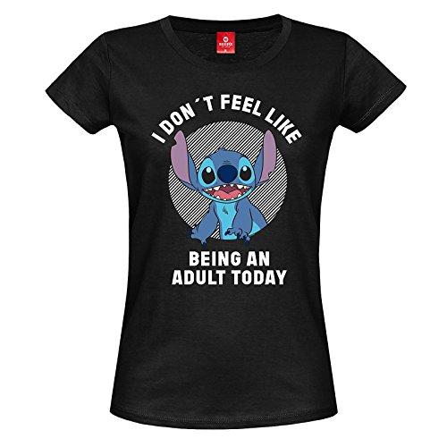 Lilo and Stitch Adult T-Shirt schwarz S -