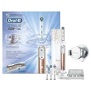 Oral-B Genius9000N CrossAction Brosse À Dents Électrique Rechargeable, 1Manche Connecté Rosegold, 6Modes, 4Brossettes, 1Étui De Voyage USB