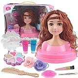Créatifs Tête À Coiffer Et À Maquiller Pour Enfants, Accessoires de maquillage de jouet de filles, accessoires de mode et de maquillage pour le jeu d'enfant et de faux