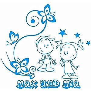 Baby/Kinder - Autoaufkleber ***Geschwister - Motiv 02/rechts*** (mit eigenem Wunschtext, Farb.- und Schriftauswahl)