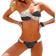 deley donne elegante senza spalline riempito push up sexy bikini costumi da bagno