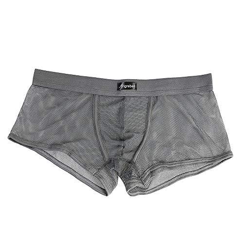 Lucky Mall Männer Sexy Dessous Unterwäsche, Herren Transparente Wetlook Slips G-Strings Tanga Erotik Reizwäsche Unterhosen Mesh Netz Boxershorts Bikini Unterwäsche