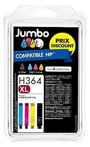 JUMBO PRINT H364 XL Pack de 4 Cartouches d