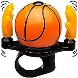 Unbekannt Fahrradklingel -  Basketball  - mit coolem Effekt - Hände Schlagen zum Klingeln auf den Basketball - stabiles Metall - UNIVERSAL Klingel für das Fahrrad / M..