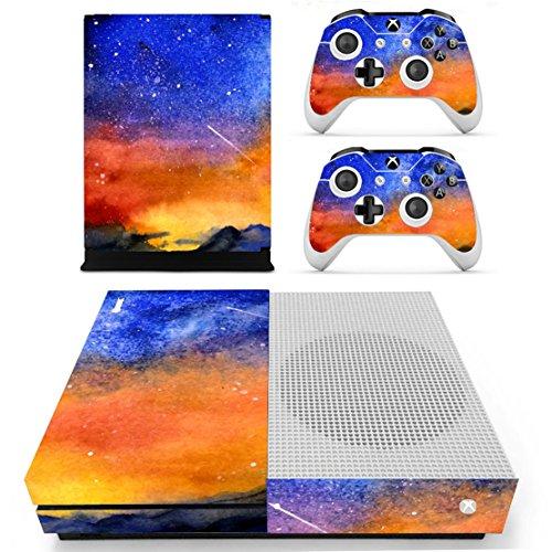 Stillshine Xbox One S selbstklebend Konsole Vinyl Skin Decal Sticker & 2selbstklebend Controller & 1selbstklebend Kinect Set blau Meteor - Zumba One Xbox