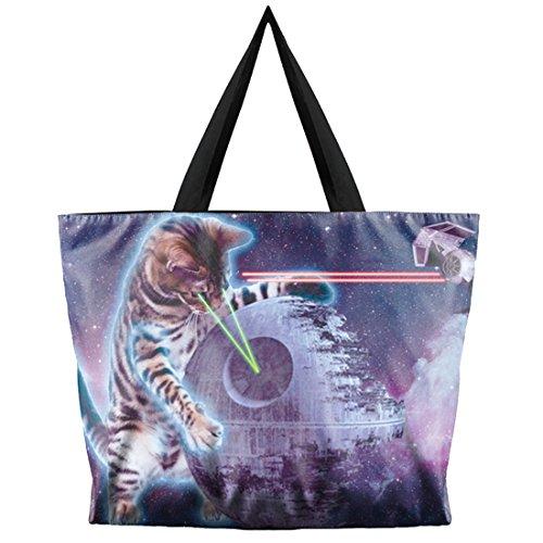Belsen, Borsa a spalla donna multicolore Devil Taglia unica Laser cat
