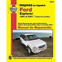 Haynes en Espanol Ford Explorer 1991 al 2001, Todos los modelos: Incluye Mazda Navajo, Mercury Mountaineer, Explorer Sport (Hasta 2003) Y Sport Trac (Hasta 2005) - Mercury Mountaineer Explorer