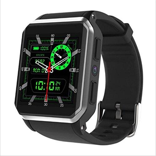 WILK-A Smart Uhr KW06 Andrews 3g quadratischen Bildschirm IP68 Tiefe wasserdicht Gps Echtzeit-Pulsuhr Mode 512 +8 GB Uhr , Silver