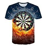 ZCYTIM 3D T Shirts Dartscheibe T-Shirt Darts Wurfspiel Grafik T Shirts Kurzarm Designer Shirts