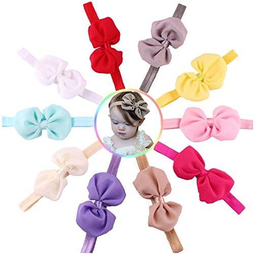 Colori assortiti fascia per capelli fascia Tankerstreet Baby Girl cute morbido elastico bandane confezione da 8PZ
