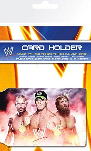 Preisvergleich Produktbild Set: Wrestling, WWE Team EC-Kartenhülle Kartenetui Für Fans Und Sammler (10x7 cm) Inklusive 1x 1art1® Überraschungs-Sticker
