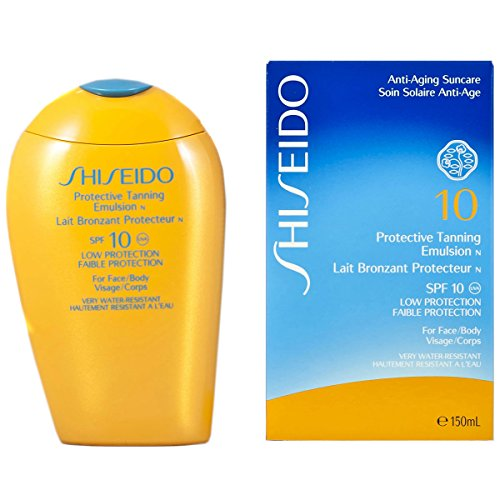 Shiseido Protective Tanning Emulsion SPF10 Low Protection Face/Body 150ml -