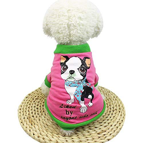 Alikeey simpatico cagnolino cane maglietta abbigliamento piccolo costume da cucciolo