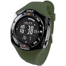 Pyle Ski Master V - Reloj digital altímetro, color verde oscuro