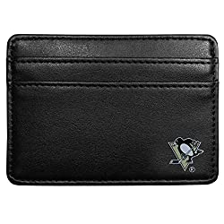 NHL Pittsburgh Penguins Leather Weekend Wallet, Black
