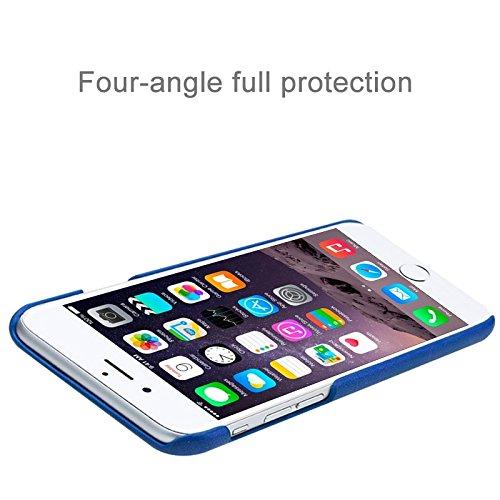 Phone case & Hülle Für IPhone 6 / 6s, Crazy Pferd Texture Leder Oberfläche PC Schutzhülle Rückseite ( Color : White ) Dark Blue