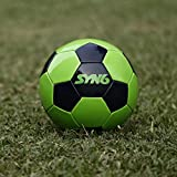 #5: SYN6 Training Football !! Launch offer !! , Size 4, Green Super Glossy Micro PVC