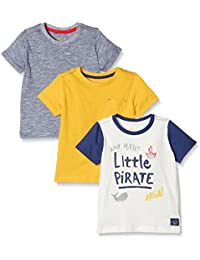 Mothercare Baby Boys' Starred Regular Fit T-Shirt (Pack of 3)