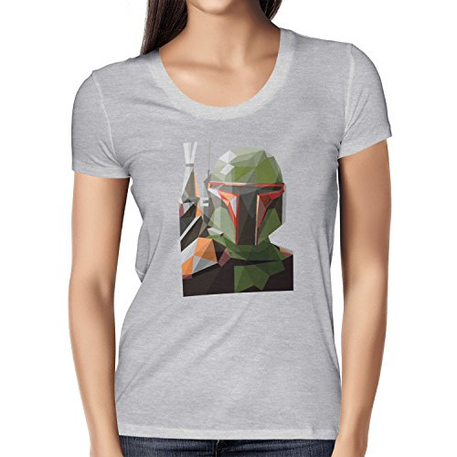 TEXLAB - Poly Bounty Hunter - Damen T-Shirt Grau Meliert