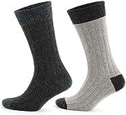 GoWith 2'li Topuk Burun Renkli Alpaka Yünlü Destekli Ön Yıkamalı Kışlık Çorap