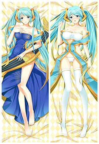 Sona Kissen (Home Goodnight Sona Buvelle 2 Way Tricot 160cm x 50cm Anime bezug Umarmungs Körper Kissenbezug)