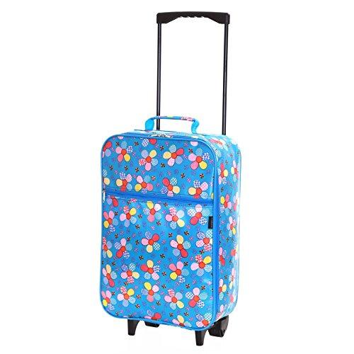 Slimbridge Barcelona bagaglio a mano per bambini con ruote, Blu