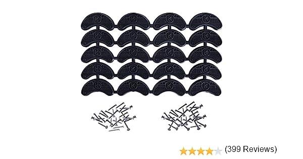 Noir 10 Paires Mudder Plaquettes de Talon Embouts /à Talon Pointe de Talon Remplacement avec Clous