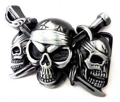 Cinturón Hebilla Hombre Mujer De Reemplazo De guertelschallen gris negro pirats Calavera Killer estabilizadora Cinturón Hebilla Black Metal Blood metal Killer Buckle 4716